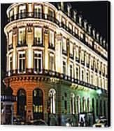 Night Paris Canvas Print by Elena Elisseeva