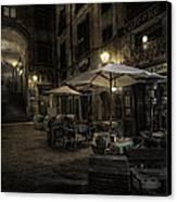 Night Plaza Canvas Print by Torkil Storli