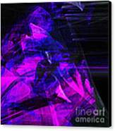 Night Rider . Square . A120423.936.693 Canvas Print by Wingsdomain Art and Photography