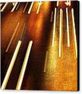 Night Traffic Canvas Print by Carlos Caetano