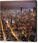 Night View Of Kowloon Canvas Print by Ray Cheung