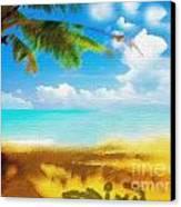 Nixo Landscape Beach Canvas Print
