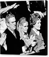 Nixon Family And Administration Listen Canvas Print by Everett