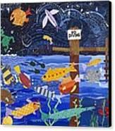No Diving Canvas Print by Barbara Esposito