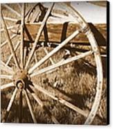 No Gas Needed Buggy Wheels Canvas Print