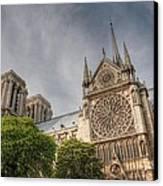 Notre Dame De Paris Canvas Print by Jennifer Ancker