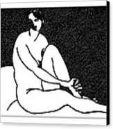 Nude Sketch 69 Canvas Print