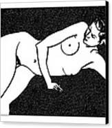 Nude Sketch 72 Canvas Print