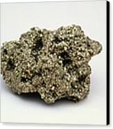 Nugget Of Fool's Gold, Iron Pyrites Canvas Print