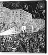 Nyc: Democrat Parade, 1876 Canvas Print by Granger