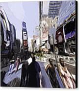 Nyc Impression Canvas Print by Robert Ponzoni