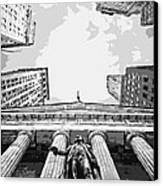 Nyc Looking Up Bw6 Canvas Print by Scott Kelley