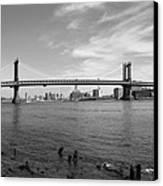 Nyc Manhattan Bridge Canvas Print by Mike McGlothlen