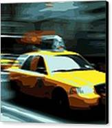 Nyc Taxi Color 16 Canvas Print