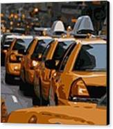 Nyc Traffic Color 16 Canvas Print