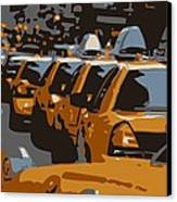 Nyc Traffic Color 6 Canvas Print