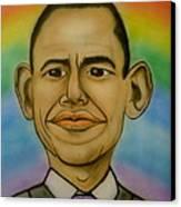 Obama Rainbow Canvas Print