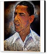 Obama. The 44th President. Canvas Print by Fred Makubuya
