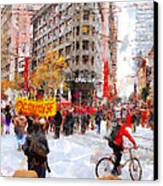 Occupy Sf Market Street . 7d9733 Canvas Print by Wingsdomain Art and Photography