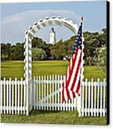 Ocracoke Lighthouse July 4th Canvas Print by Bill Swindaman