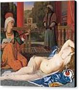 Odalisque With Slave Canvas Print by Jean-August-Dominique Ingres