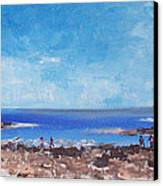 Odiorne Beach Park Nh Canvas Print by Michel Croteau