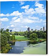 Office Buildings From A Park Canvas Print