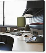Office Work Station Canvas Print by Jetta Productions, Inc