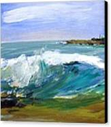 Ogunquit Beach Wave Canvas Print