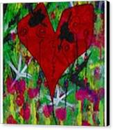 Oh My Green Heart Canvas Print