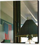 Oil Lamp And Porch Canvas Print