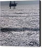 Oil Platform Canvas Print by Arno Massee