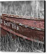 Old Boat Washed Ashore  Canvas Print