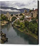Old Bridge Of Mostar Canvas Print by Ayhan Altun