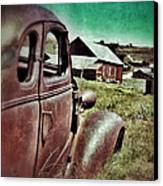 Old Car And Ghost Town Canvas Print