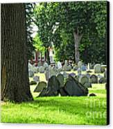Old Cemetery In Boston Canvas Print