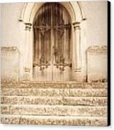 Old Church Door Canvas Print by Tom Gowanlock