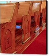 Old Church Pews Canvas Print by LeeAnn McLaneGoetz McLaneGoetzStudioLLCcom