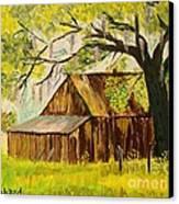 Old Florida Farm Shed Canvas Print by Bill Hubbard