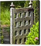 Old Garden Entrance Canvas Print by Heiko Koehrer-Wagner