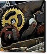Old Gears Mechanism Canvas Print by Sami Sarkis