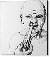 Old Man Canvas Print by Louis Gleason