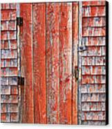 Old Orange Door  Canvas Print by Garry Gay