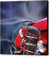 Old Red Hotrod Canvas Print by Diana Shively