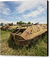 Old Russian Btr-60 Armored Personnel Canvas Print by Terry Moore