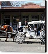 Old Sacramento California . Horse Drawn Buggy . 7d11482 Canvas Print by Wingsdomain Art and Photography