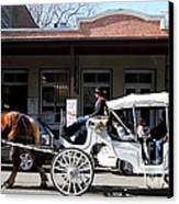 Old Sacramento California . Horse Drawn Buggy . Long Cut . 7d11482 Canvas Print by Wingsdomain Art and Photography