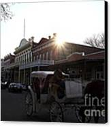 Old Sacramento California In Partial Silhouette . 7d11719 Canvas Print by Wingsdomain Art and Photography