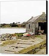 Old Shed By The Sea Canvas Print