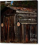 Old Shed Oakhurst Canvas Print by Marjorie Imbeau